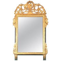 French Louis XVI Style Gilt Wall Mirror