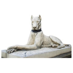 Pair of Large Hounds on Plinths