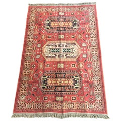 Vintage Turkish Rug, Vivid Colors
