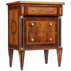 Late 19th Century Inlaid Walnut Small Commode