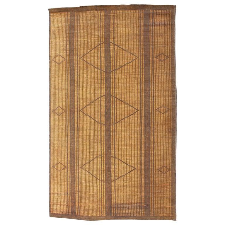 Mid-20th Century Vintage Moroccan Leather Tuareg Rug, North Africa