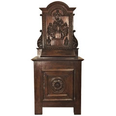 Hand-Carved Cabinets