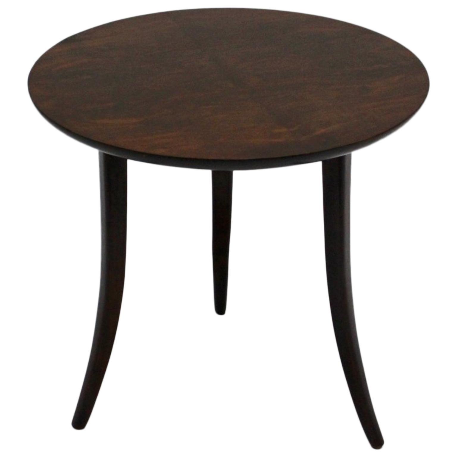 Josef Frank Art Deco Era Round Walnut Side Table for Haus & Garten, Vienna