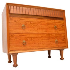 1950s Vintage Satinwood Heal's Chest of Drawers