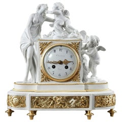 Pendulum Clock: Venus and Cupids, in Louis XVI Style by Samson
