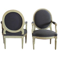 Pair of His & Hers French Fauteuils