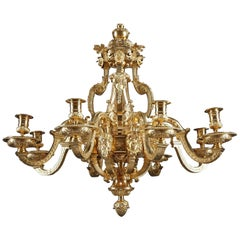 8-Light French Regence Gilt Bronze Chandelier
