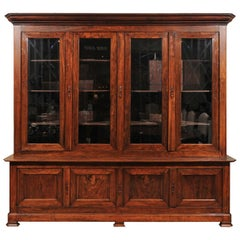 Louis Philippe French Walnut Bookcase, Early 19th Century