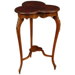 20th Century Clover Mahogany Wood French Side Table, 1960