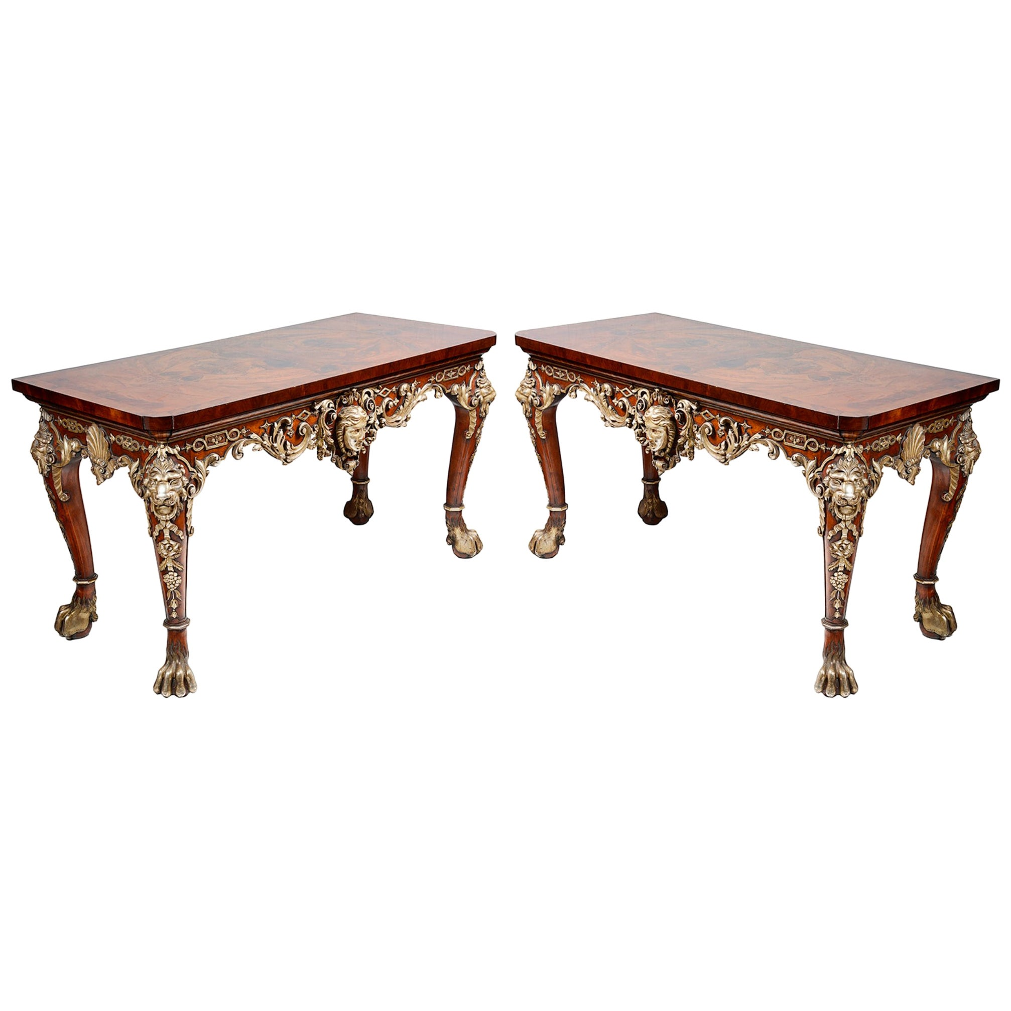 Large Pair of William Kent Style Console Tables