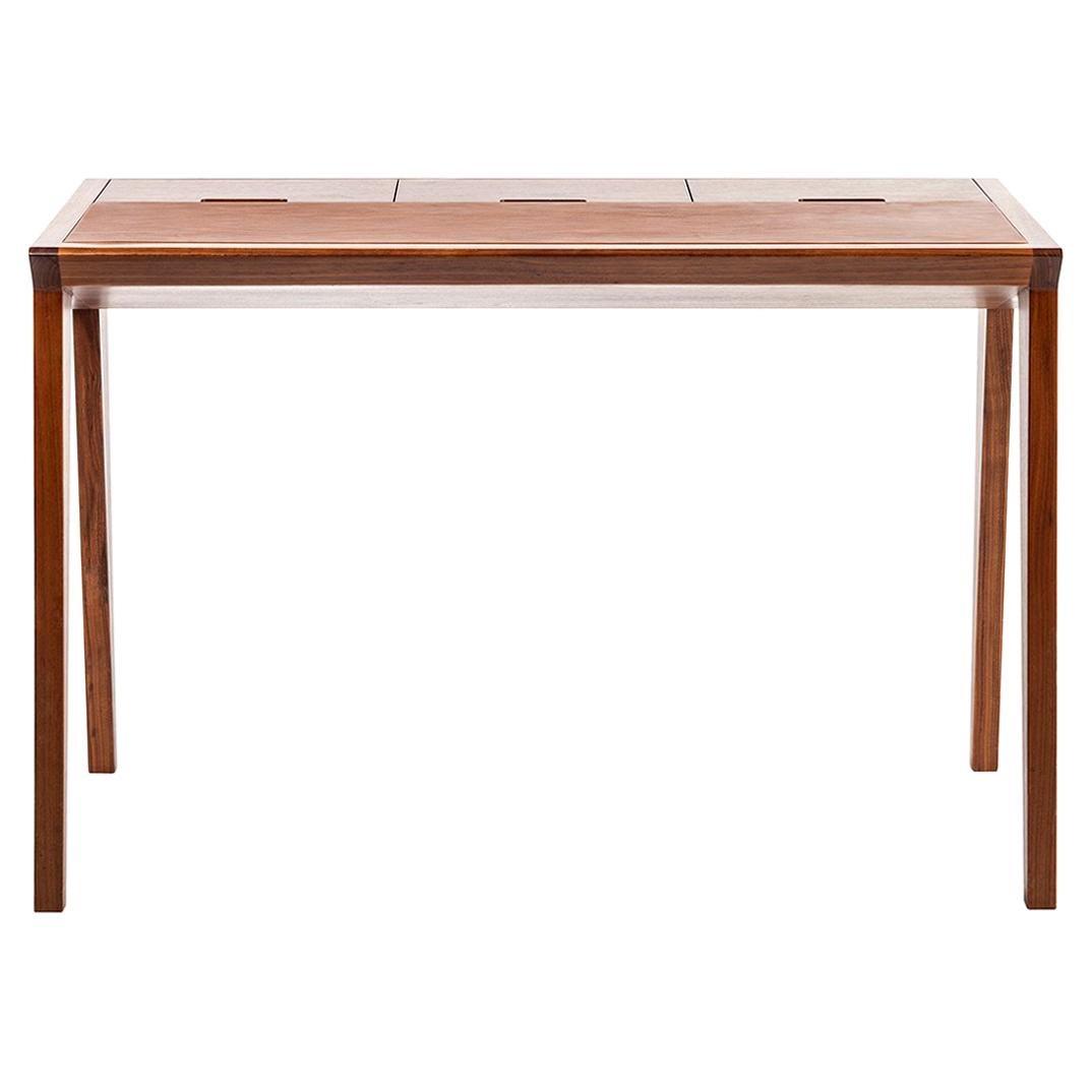 Study Table, Midcentury Wooden Office Desk, Writing Desk