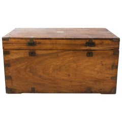 1870s Camphor Wood and Brass Military Campaign Trunk