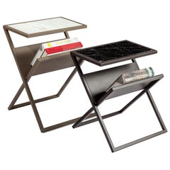 Xezette Table, Modern Metal Side Table