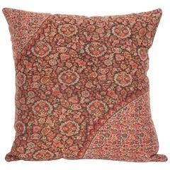 19th Century European Paisley Wool Pillow