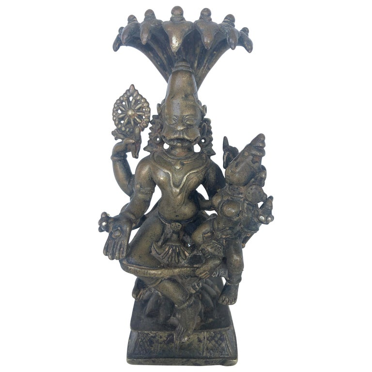 Bronze Figure of Narasimha, South India, 16th-17th Century For Sale