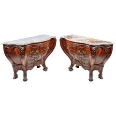 Pair of Antique Venetian Style Commodes