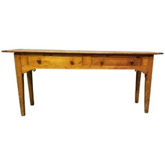 19th Century English Country Pine Console Table