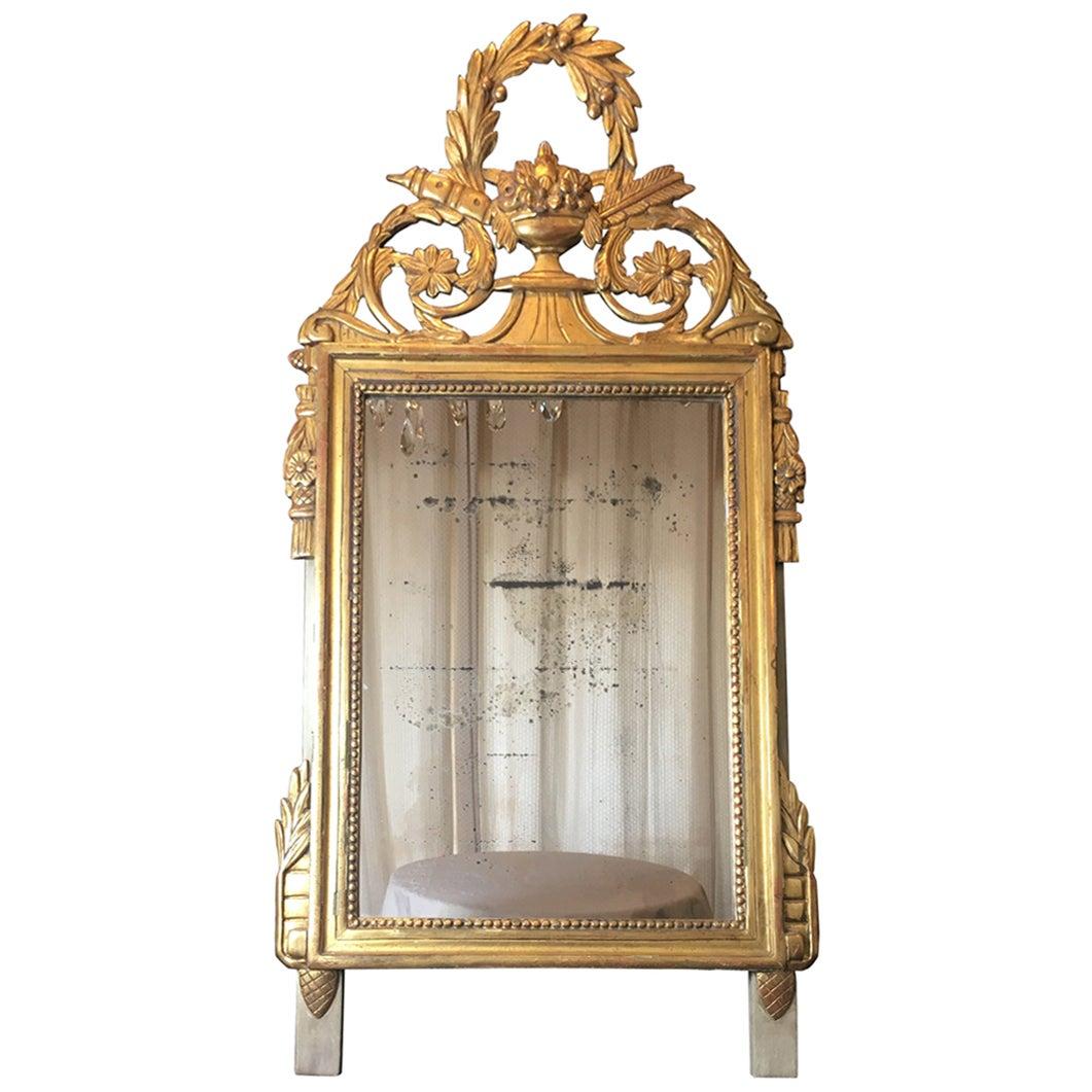 Elegant French Louis XVI Style Mirror