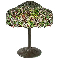 "Tiffany Studios New York ""Cherry Blossom"" Table Lamp"