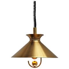 Danish Brass Pendant by Company Frandsen, Vintage Midcentury Design, 1970s