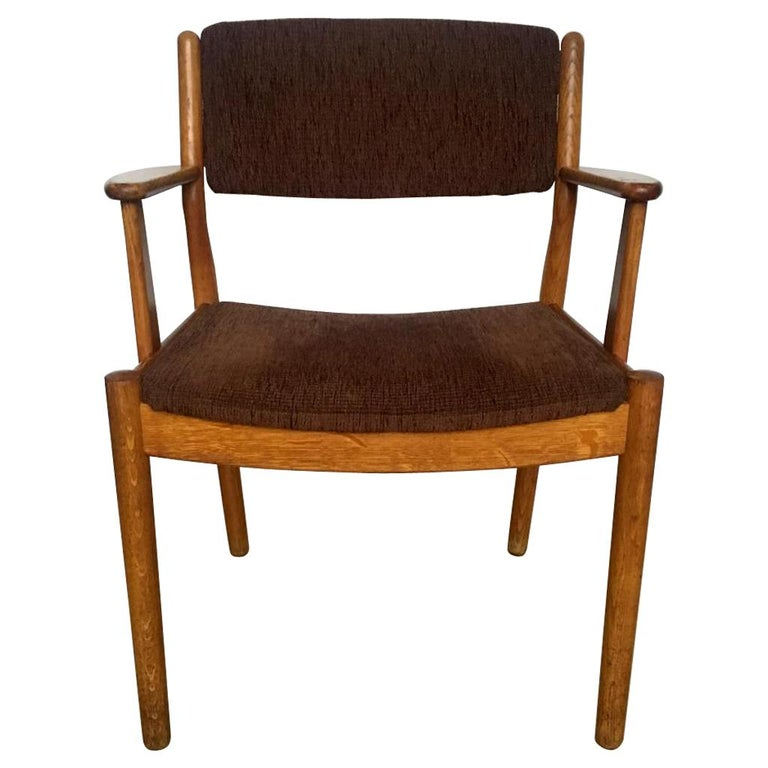 Midcentury Danish Oak Armchair by Poul Volther for FDB Møbler, 1950s For Sale