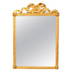 French Louis XVI Style Giltwood Wall Mirror