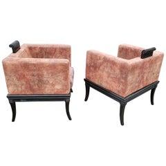 Klismos Cube Lounge Chairs