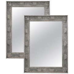 Pair of Large Painted Reproduction Mirrors