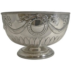 Antique English Sterling Silver Bowl by William Hutton, 1904