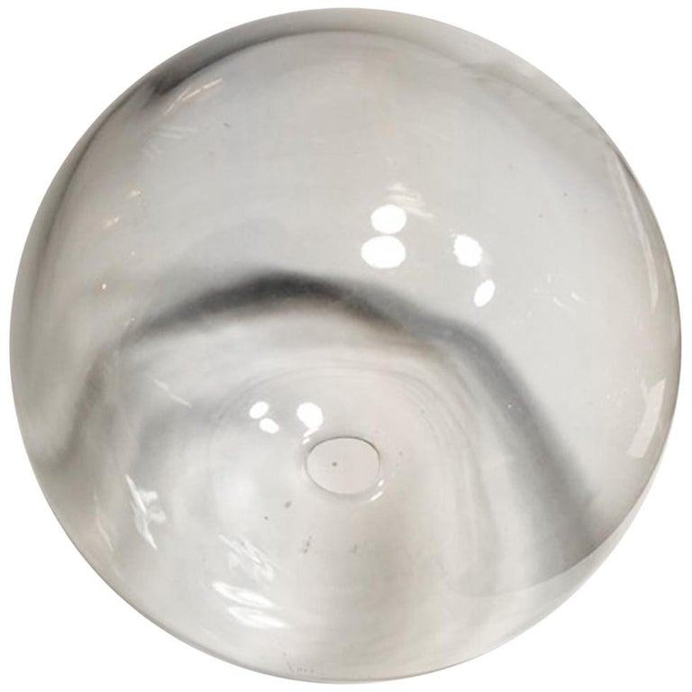Italy Clear Sphere Glass Minimalist Style Contemporary Decorative Object For Sale