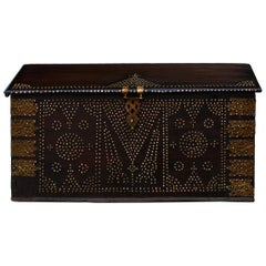 19th Century Teak Brass-Studded Zanzibar Chest