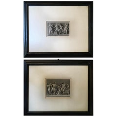France Mid-19th Century Pair of Neoclassical Black and White Prints by J.C.Ulmer