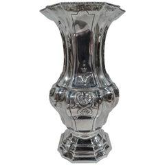 Antique French Belle Époque Classical Silver Vase
