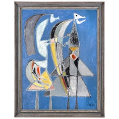 Clifford Ellis 'Untitled 'Figures'' 1952 Oil on Board
