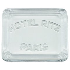 1930s Hotel Ritz Paris Glass Cigarette Ashtray Luxury Relic Chanel Art Deco Rare