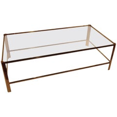 1940s French Jacques Quinet Two-Tier Coffee Table, France, 1940s