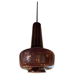 Purple Glass Pendant Light by Michael Bang for Holmegaard