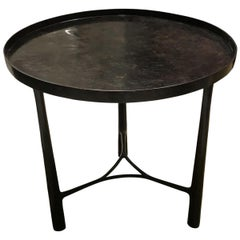 Round Bronze Side Table, Germany, Contemporary