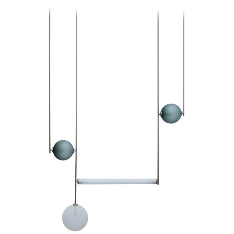 Customizable Equalizer Collection Four-Piece Chandelier For Sale