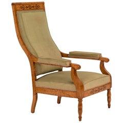 Charles X Inlaid Maple Armchair