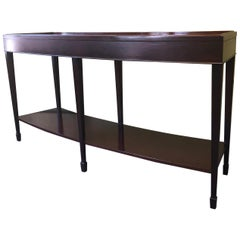 Java Mahogany Curved Console Table by Barbara Barry for Baker