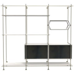 Amuneal's 3-Bay CSU Bookcase with Credenza