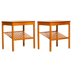 1950s, Pair of Teak Nightstands 'Athén' by Jean Huber for Tingstroms Bra Bohag
