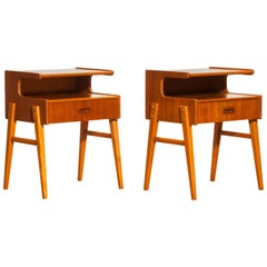 1960s Pair of Teak 'Model C' Bedside Tables
