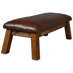 1930s Leather Gym Bench