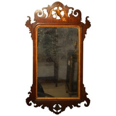 Chippendale Style George III Period Mahogany Pierced Fretwork Mirror
