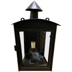 Einzelne Lackierte Wandlampe, Feinblech-Laterne, ein Licht, um 1910