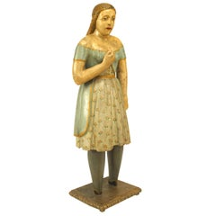 American Country Style Life-Size Wood Figure