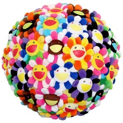 Takashi Murakami Pop Flower Ball Plush 2008 Ltd Edition Collector's Art Basel