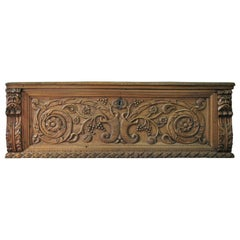 Elaborately Carved 17th Century Italian Trunk or Cassone